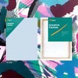 "Box of 10 18x24"" Thin Frame Stretched Blank Canvas Artvalli"