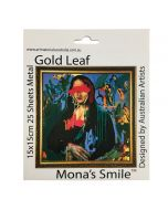Mona's Smile Gold Leaf Metal Sheets by Art Materials Australia