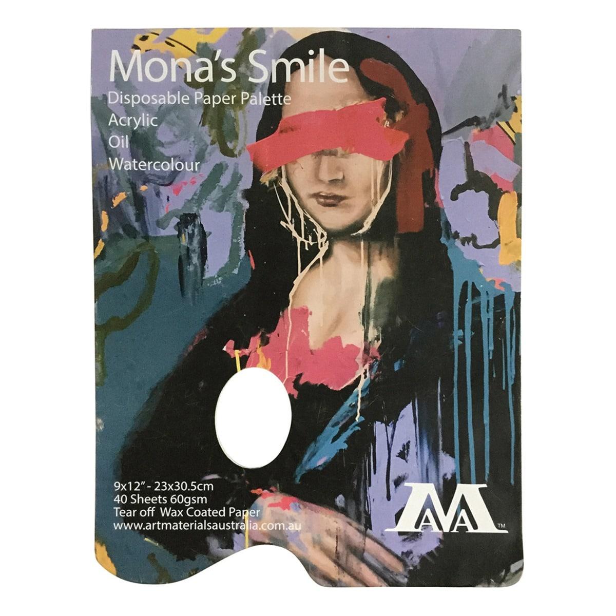 Paper palette Mona's Smile Art Materials Australia