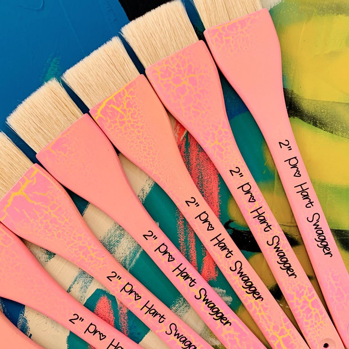 """Pro Hart Swagger 2"""" Signature Handle Paintbrush"""