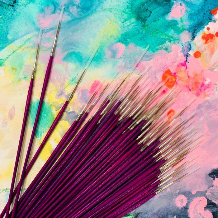 Pro Hart Swagger Liner Brush on Art Materials Australia Watercolour Canvas