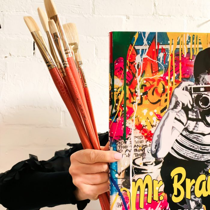 Hog hair artist flat paintbrushes by Pro Hart Swagger at Art Materials Australia