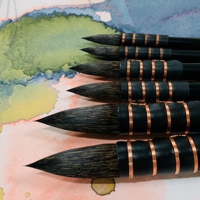 No.8 Warhol's Wife Squirrel Water Colour Paint Brush