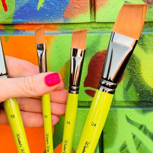 Angle Head Taklon Paint Brushes Warhol's Wife