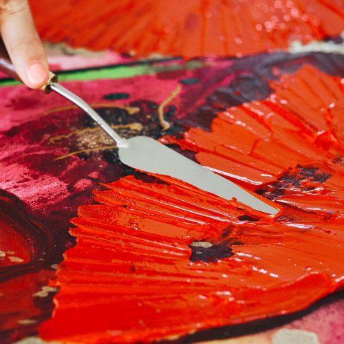 Palette Knives Warhol's Wife