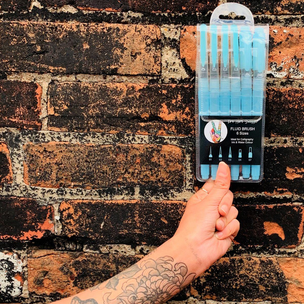 Art Materials Australia Fluid Brushses