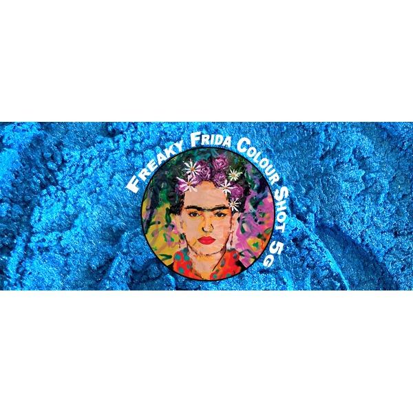 Blue Pigment Powder Freaky Frida Colour Shot