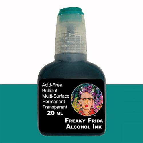 Green Alcohol Ink Freaky Frida