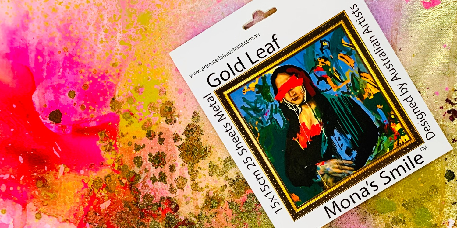 Gold leaf Mona's Smile Art Materials Australia