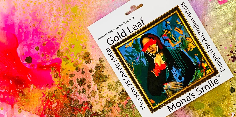 Gold leaf Mona's Smile Art Materials Australia