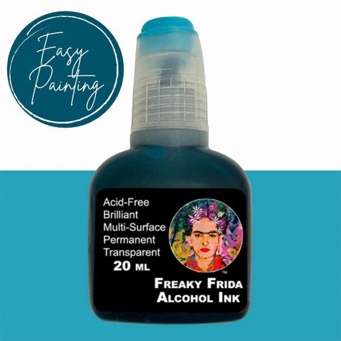 Alcohol inks Freaky Frida