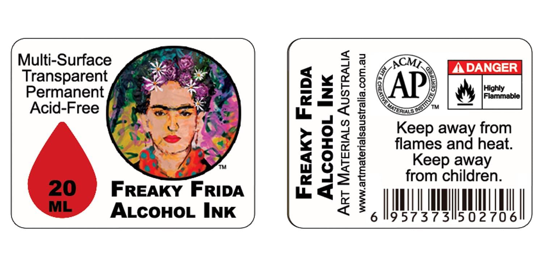Freaky Frida Alcohol Ink Infographics