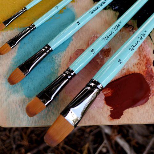 Filbert Head Taklon Paint Brushes Warhol's Wife