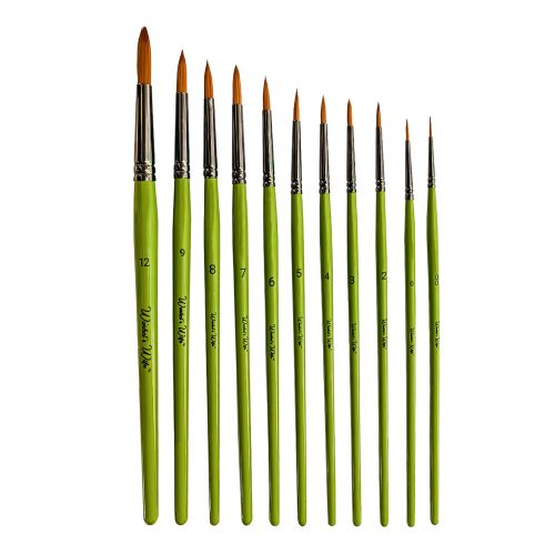 Set of round paintbrushes by Warhol's Wife Art Materials Australia