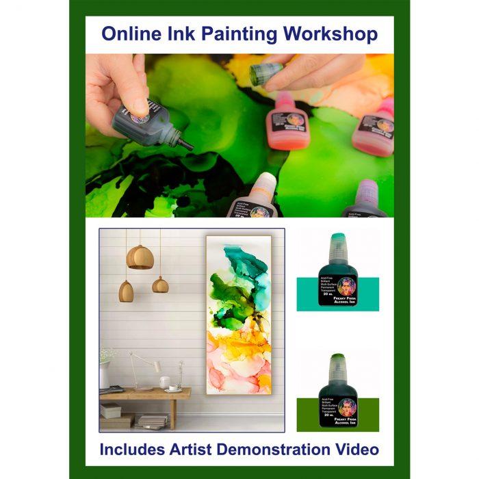 Online Ink Painting Class Art Materials Australia