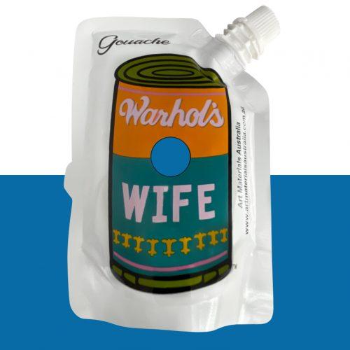 Mid Blue Gouache Paint Warhol's Wife