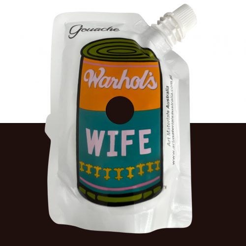 Black Gouache Paint Warhol's Wife