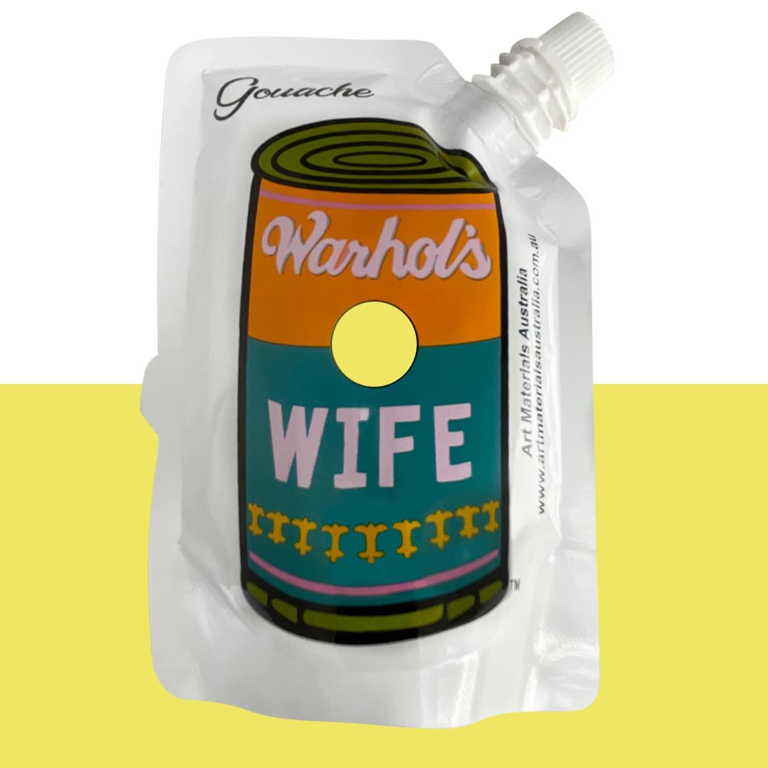 Light Yellow Gouache Paint Warhol's Wife