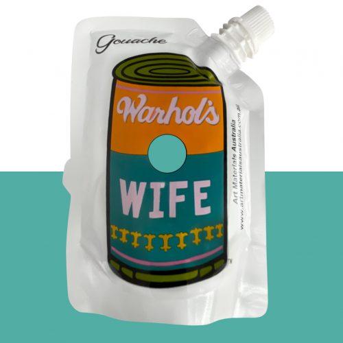 Aqua Green Gouache Paint Warhol's Wife