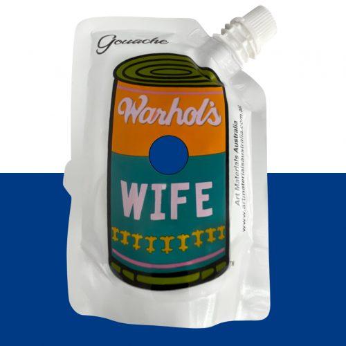 Cobalt Blue Gouache Paint Warhol's Wife