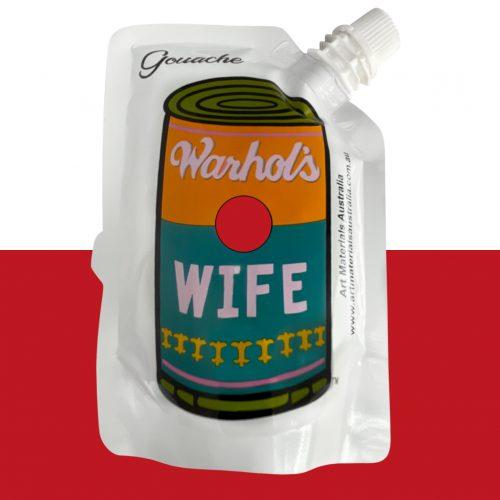 Deep Red Gouache Paint Warhol's Wife