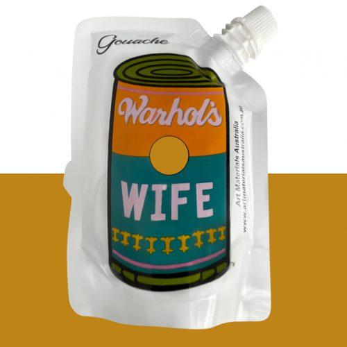 Earth Yellow Gouache Paint Warhol's Wife