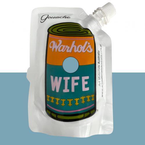 Ash Blue Gouache Paint Warhol's Wife