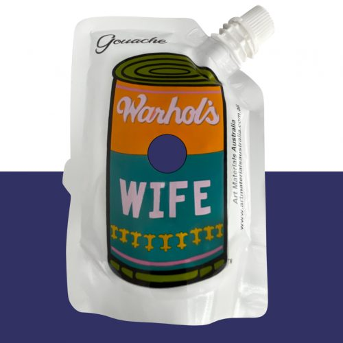 Blue Gouache Paint Warhol's Wife