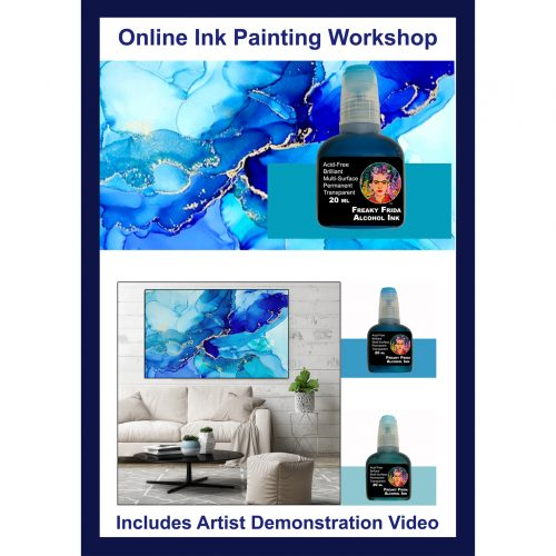 Online Alcohol Ink Class Art Materials Australia
