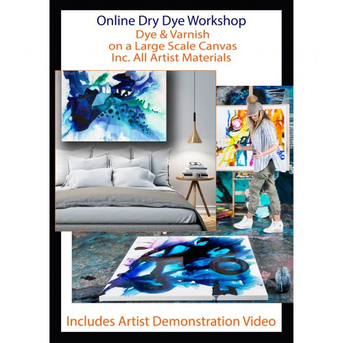 Easy Abstract Painting Workshop Online with Australian Artist Jessica Baker