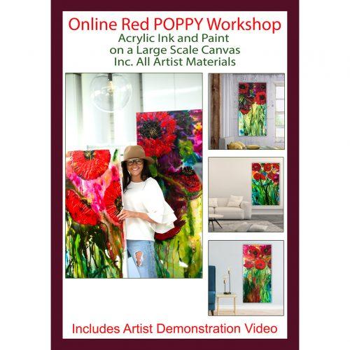 Online Acrylic Painting Class with Australian artist Jessica Baker
