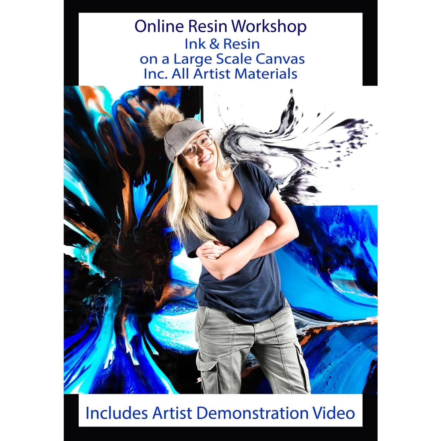 Resin workshop online with artist Jessica Baker