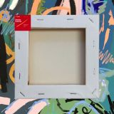 """Box of 20 10x10"""" Thick Frame Cotton Artvalli Stretched Blank Canvas"""
