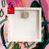 """Box of 20 12x12"""" Thick Frame Cotton Artvalli Stretched Blank Canvas"""