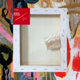 """Box of 20 12x16"""" Thick Frame Cotton Artvalli Stretched Blank Canvas"""