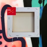 """Box of 40 6x6"""" Thick Frame Cotton Artvalli Stretched Blank Canvas"""