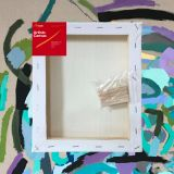 """Box of 20 8x10"""" Thick Frame Cotton Artvalli Stretched Blank Canvas"""